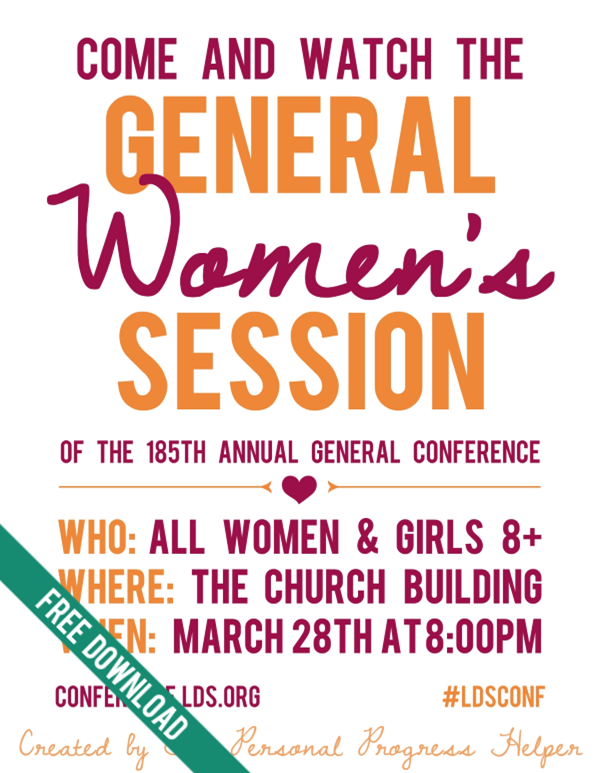 General Women's Session Invitation Free Printable