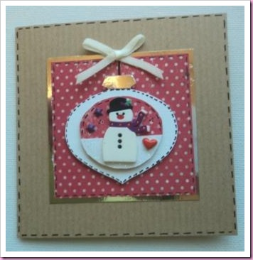Stampin'Up Bauble Card with Snowman