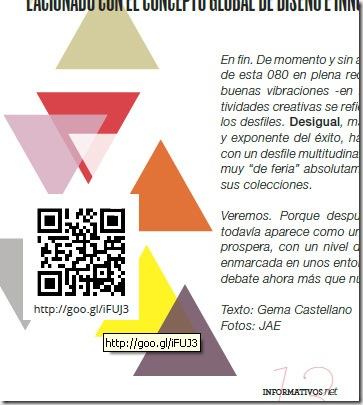 Ejemplo de código QR utilizado en la revista LifeStyle by Informativos.Net