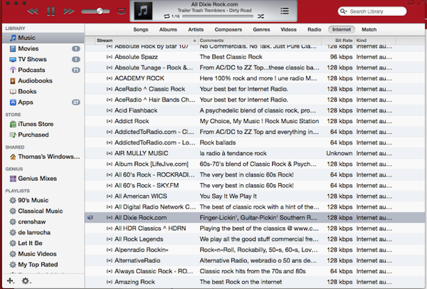 ITunes in Ferrari red