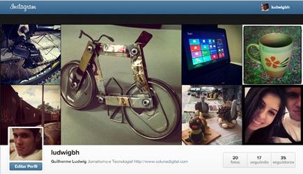 Perfil do Instagram na web