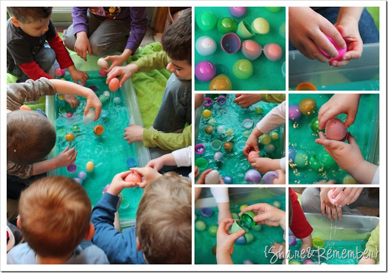 Easter Egg Colored Water Sensory Play