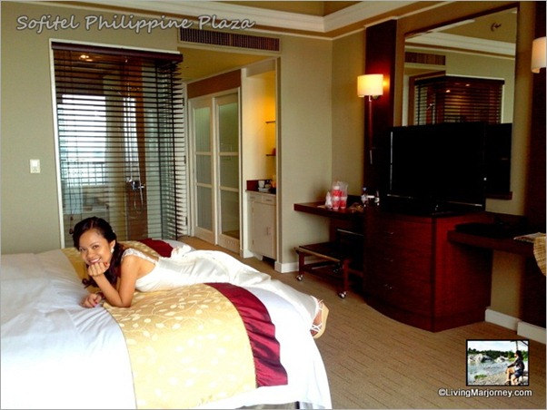 Happy Bride at Sofitel's Club Millésime Comfy Bed