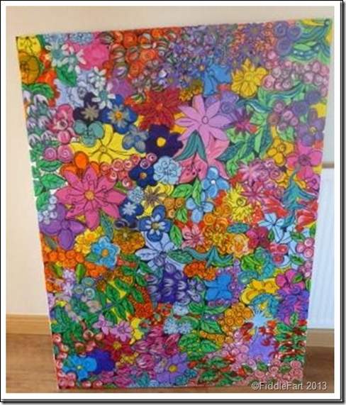 Large flowery paint picture.4