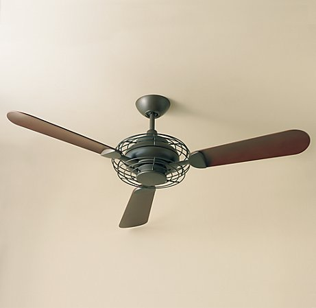 With its cool retro-industrial style, this fan won the the Good Design Award from the Chicago Athenaeum Museum.  (restorationhardware.com)