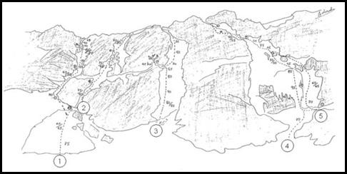 Canal Roya - Croquis de las vias de Hielo 2