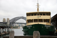 The Freshwater boat docked at Circular Quay