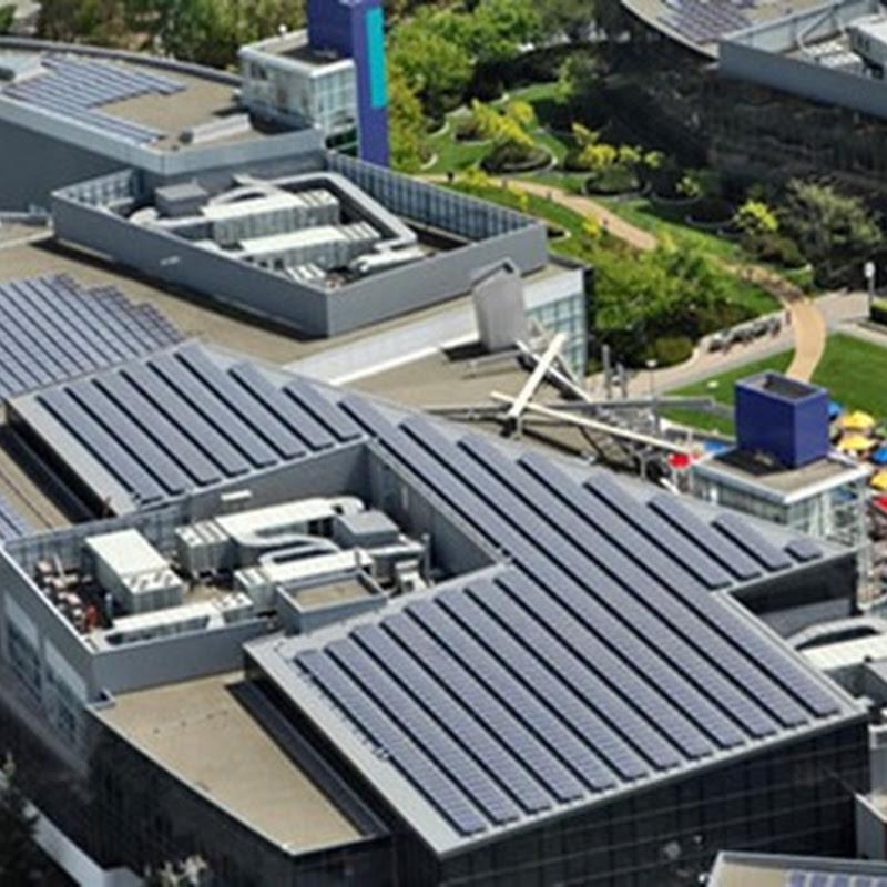 El proyecto de Paneles solares en los techos de google