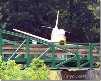sabre crashing into bridge