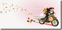 dibujos divertidos moto de boda (13)