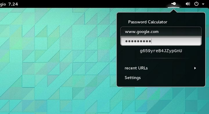 Gnome Shell - Password Calculator