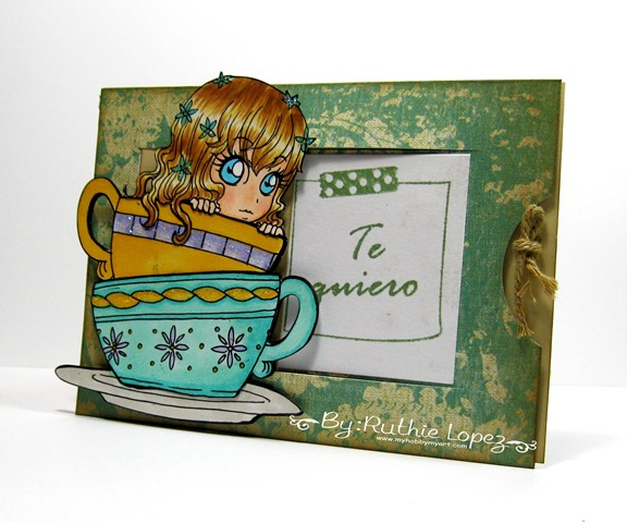 Zuri Artsy Craftsy.  Tea.  Tarjeta deslizante. Ruthie Lopez. My Hobby My Art