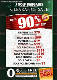 Pan West Singapore Golf Bargains Warehouse Sale Clearance Singapore 2013 Deals Offer Shopping EverydayOnSales