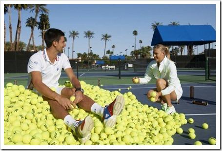 Djokovic y Sharapova en busca de oro: la pelota HEAD ATP protagonista de una promoción 2012