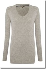 Biba Easy Grey Metallic Knit Jumper