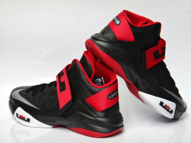 detailed look a9119 7cdcd ... Detailed Look at Nike LeBron Soldier VI in BlackWhiteRed