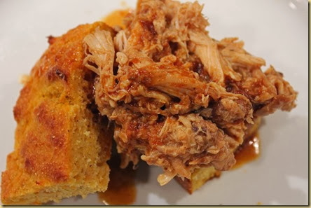sweet potato cornbread & slow-cooked bbq chicken