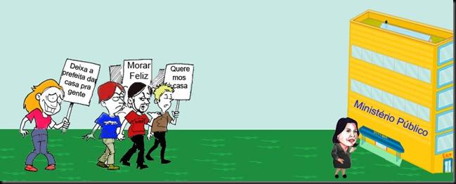 protesto contra odisséia