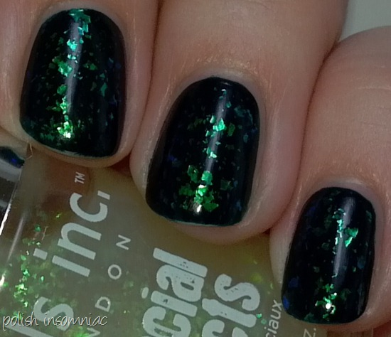 Nails Inc The Wyndham over Teal Black Kensington