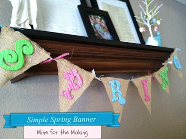 Simple spring banner