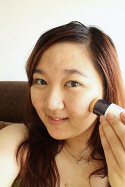 Priscilla Etude Sun BB Cream Application
