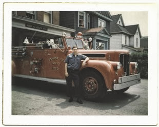 Jerry Hurley at Indianapolis Fire Station #22 in 1969.