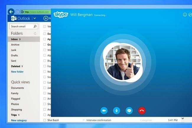 Χρήση Skype μέσα από το Outlook