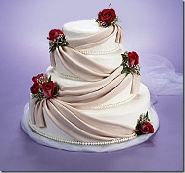 draped wedding cakes