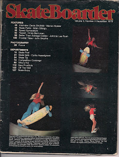 The inside cover (Table of contents cover section) of Skateboarder Magazine.