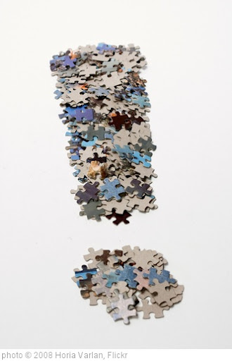 'Fat exclamation mark made from jigsaw puzzle pieces' photo (c) 2008, Horia Varlan - license: http://creativecommons.org/licenses/by/2.0/