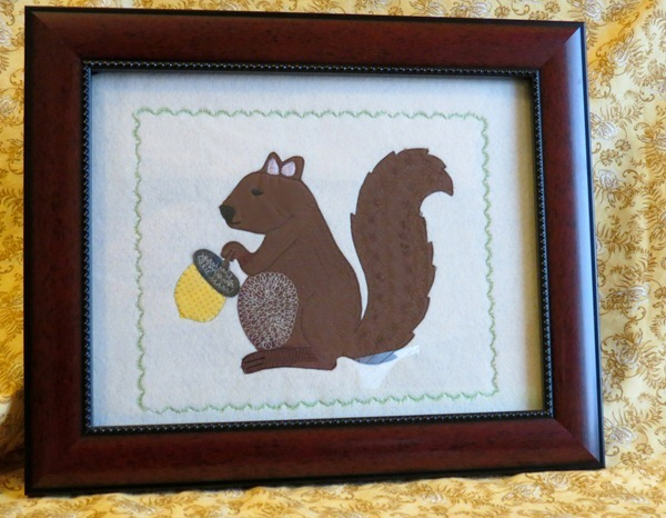 Framed Squirrel Applique