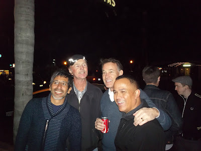 Eddie Elguera, Brian Logan, Steve Cathey at the La Paloma Theatre waiting for the Bones Brigade movie to begin.