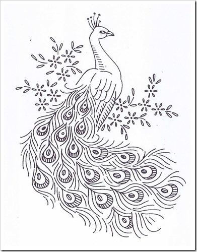 Peacock Pattern Outline Maureen's vintage acquisitions blog: a vintage ... Peacock Pattern Outline