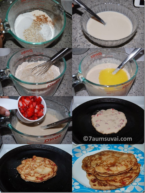 Strawberry pancake process
