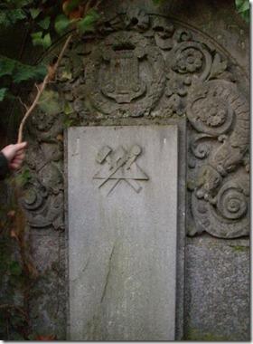 Simbolo mason Cementio Judio Praga
