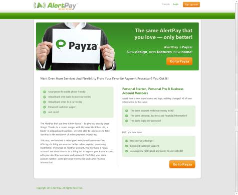 Alertpay berubah menjadi Payza