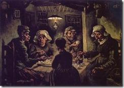 Os comedores de batatas - Vincent Van Gogh