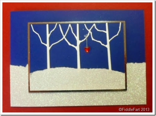 Memory Box Row of Trees Card