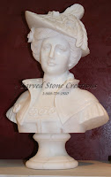 Victorian Woman Bust W/ White Hat