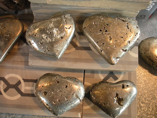 Stone hearts make great paperweights.