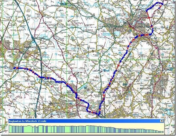 Buglawton to Wheelock route
