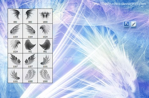 Pinceles de alas finas