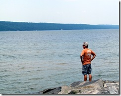Dan on the jetty at Seneca Lake