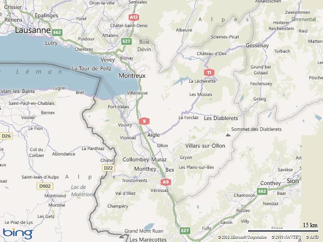 Région de Suisse où je me trouve actuellement…