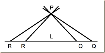 euclid's fifth axiom in non-euclidean space