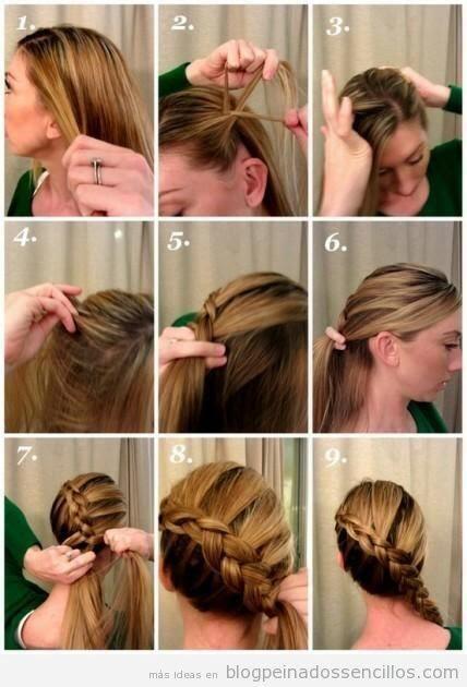 Peinados trenza lado