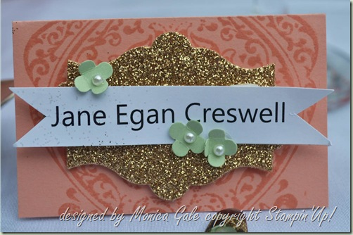 Stampin'Up! place card