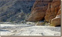 Sand and washboard road