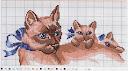 Схемы вышивки крестом кошек, котов, котят.