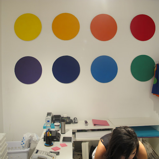 Simple dots positioned on the wall make for great decoration.